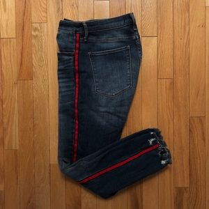 Red Accented Abercrombie Jeans